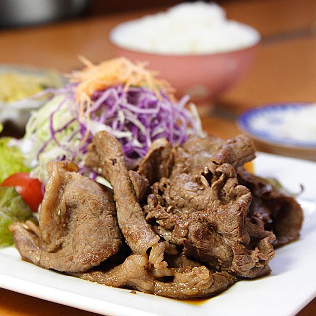 あみ焼き定食(高森の郷土料理)